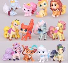 12pcs/lot 5CM LPS Palace Pets PVC Action Figures Disny Princess Little Pet Shop Cats Dogs Figurines Kids Toys for Boys Girls