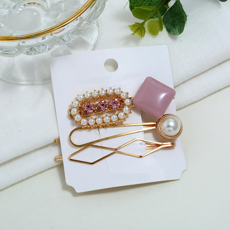 8b644593b1 HOT SALE] 3PCs/set Gold color Pearl Hair Clip for Girls Hair Pins ...