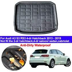 Tylna mata bagażnika samochodu Cargo Tray Boot Liner dywan Protector podłoga dla Audi A3 S3 RS3 4 dr Hatchback 2013  2015 2016 2017 2018 2019| |   -