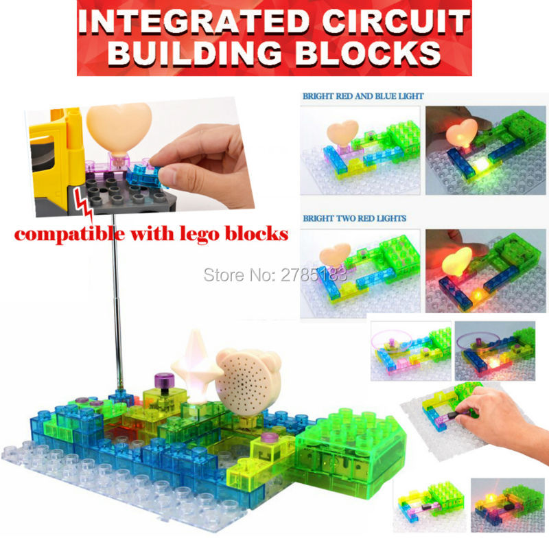 120 Projects DIY Kits Integrated Building Block 41PCS Electronic Component Educational & Learning Science Blocks Toy set w 5889 electronics exploration kit diy building blocks kids science learning toy 5889 projects english manual 44 pieces