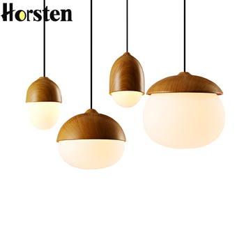 Horsten Modern Nordic Nut Pendant Light Home Decorative Luminaire Hang Lamp Egg Shaped Lights For Dining Room Lighting Fixture