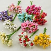 10 PCS Artificial Leaves Stamens Bud Bud Bud Foam Cute Hair Accessories Bride Wrist Flower Material Accessories