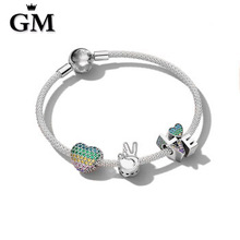 GM100%925 Sterling Silver Original Copy Of High Quality 1:1 Bracelet Logo Free Package Manufacturers Wholesale