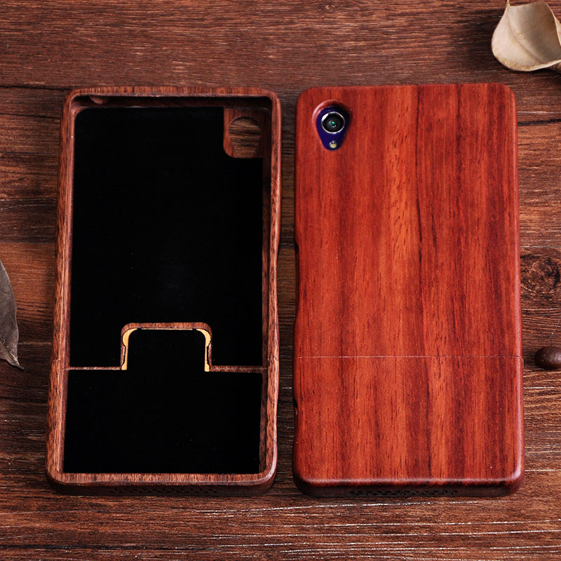 Natural handmade Wooden Bamboo Phone Shell With Rosewood Walnutwood For SONY Xperia Z1 Z2 Z3 Z4