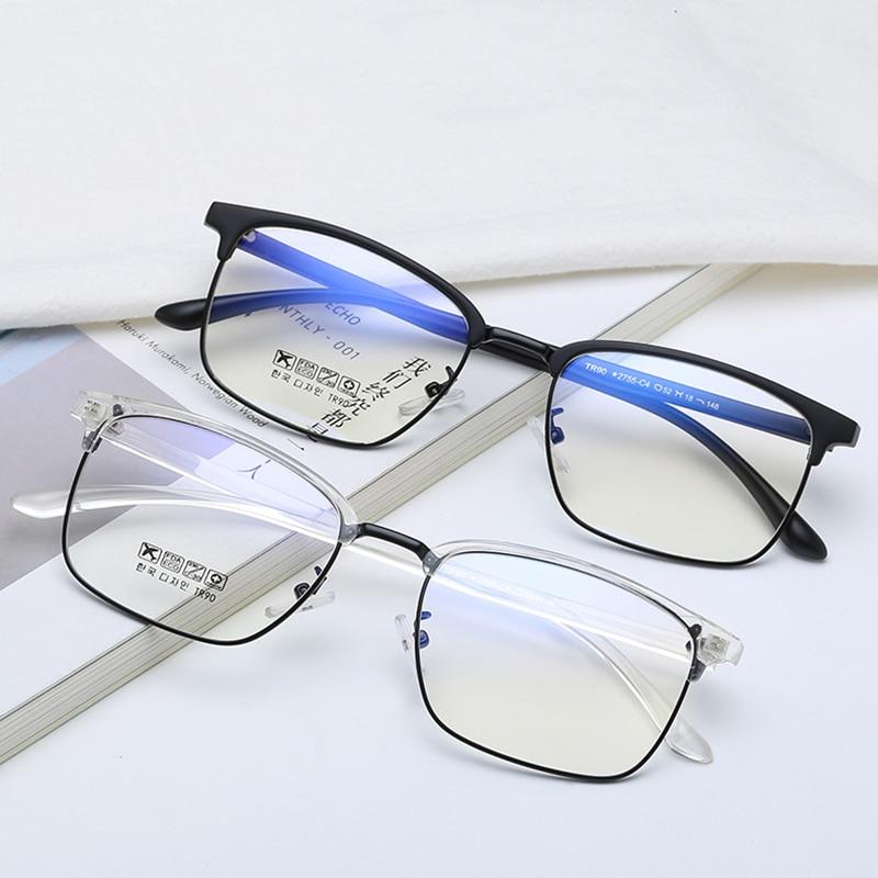 Business Blau Brillen Platz Übergang Vintage Metall Männer Licht Lesebrille Optische Brille Myopie Photochrome 0wFUxqXpX
