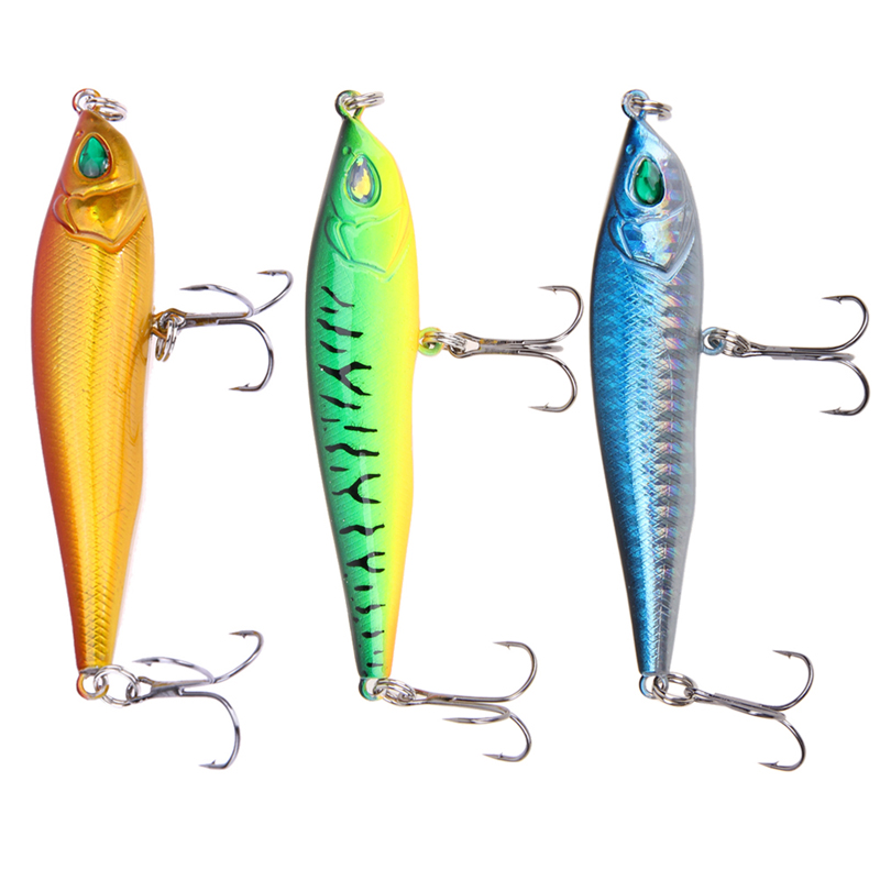 New Fishing Lures 1PCS 3D Fishing Minnow Lure Isca Artificial Hard Bait Hook Tackle 8.5CM/15G Wholesale EA14 tsurinoya fishing lure minnow hard bait swimbait mini fish lures crankbait fishing tackle with 2 hook 42mm 3d eyes 10 colors set