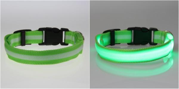 8 Warna S M L Ukuran Cahaya LED Dog Pet Cat Flashing Light Up Nylon - Produk hewan peliharaan - Foto 5