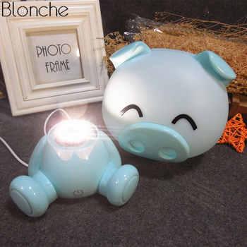 Modern Pig Led USB Night Light for Children Baby Bedroom Christmas Night Lamp Kids Rooms Bedside Home Decor Lighting Fixtures