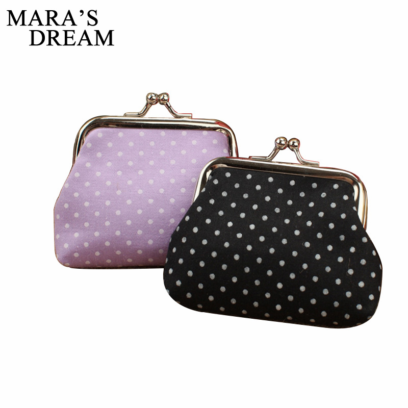 Mara's Dream New Arrival Small Dot Zero Printed Girl's Coin Purses Wallet Bag Pouch Brand Lady Mini Wallet With Metal Buckle mara s dream new arrival small dot zero printed girl s coin purses wallet bag pouch brand lady mini wallet with metal buckle