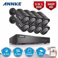ANNKE 8CH 960 P AHD DVR Video 8 UNIDS 1.0MP CCTV Cámaras de Seguridad para el hogar HD Al Aire Libre IR de La Visión Nocturna del Sistema de Vigilancia Kit