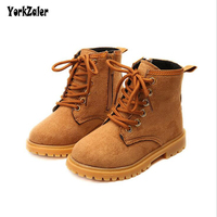 Yorkzaler Autumn Winter Kids Girl Leather Boots Fashion 3 Color Children Waterproof Soft Shoes Toddler Baby