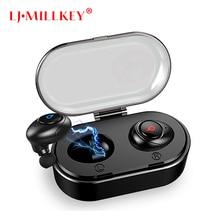 Newest Twins True Wireless Earbuds Mini Bluetooth In-Ear Stereo TWS Wireless Earphones With Charging Case LJ-MILLKEY YZ143
