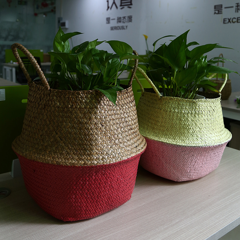 Basket, Seagrass, Laundry, Container, Room, Foldable