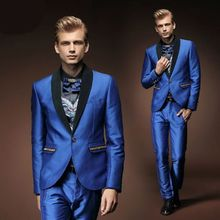 2017 Latest Coat Pant Designs Royal Blue Prom Men Suit Style Suits Slim Fit 2 Piece Tuxedo Custom Groom Blazer Terno Masculino 7