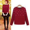 3xl plus big size sweater women spring autumn winter 2017 feminina red black love thin sweater female A2552