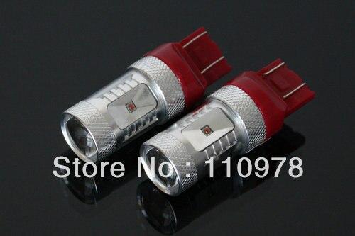 2x 30W W5/21W 7443 W3x16q T20 12V HIGH POWER CREE Chips LED LAMPE ROT 30W BIRNE