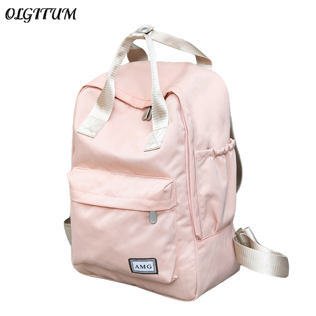 ec3425998377 Female Korean College Student Travel Backpack Nylon Waterproof Shool Bag  For Teen Girls Harajuku Canvas Backpack