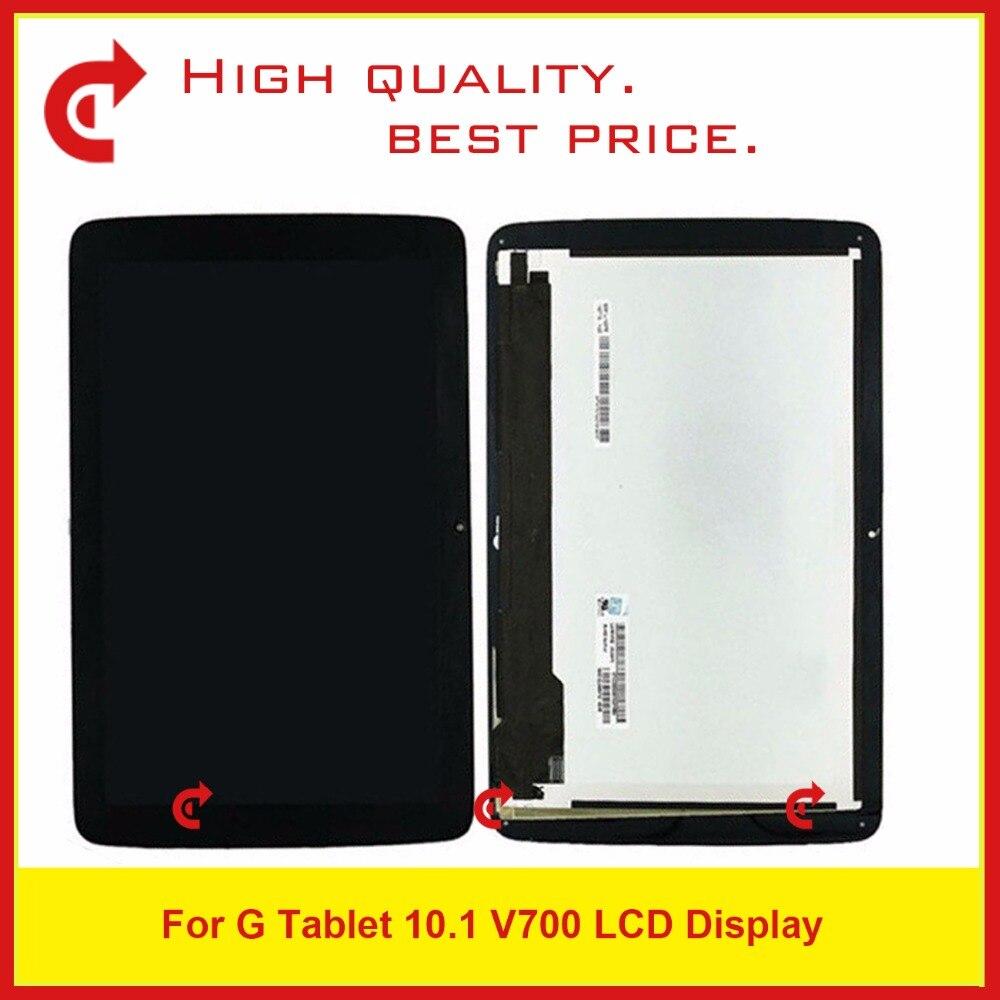 Для новых LG G Pad 10.1 V700 VK700 ЖК дисплей Дисплей + дигитайзер Сенсорный экран Стекло сборки черный ремонтируется Запчасти Бесплатная доставка