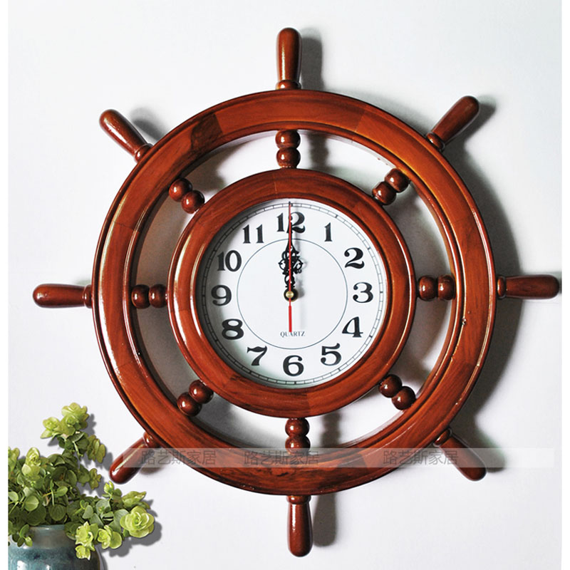 Wandklok Wall Clocks Home Decor Modern Design Kitchen Pared Relojes  Decoracion Quartz Saat Wanduhr Watch Rudder Shape Wood