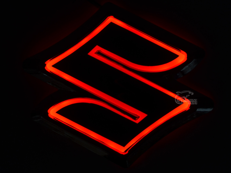 New Car Styling 5d Rear Badge Bulb Emblem Logo Light For Suzuki