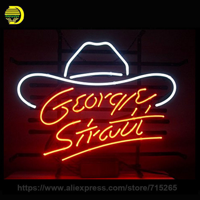 neon sign for george strait glass tube handcraft decorate neon signs art wall lights for store