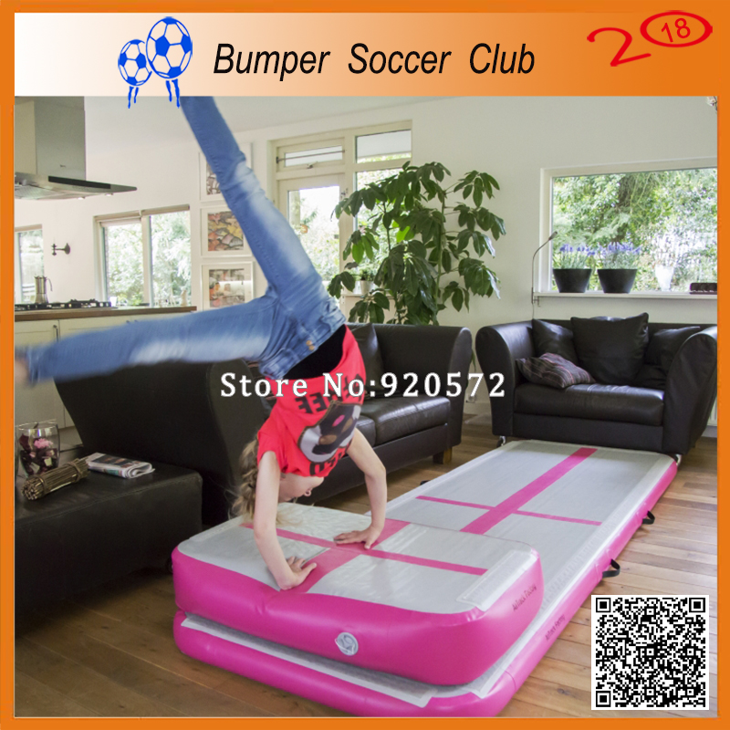 Free Shipping Whole Sales Pink Color 3x1m Inflatable Air Tumble Track/Double Wall Fabric Inflatable Airtracks For Sale hot sale inflatable air tumble track gymnastics for sale