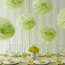 1pcs  mix size 5″6″ 8″ 10″ 12″ Tissue paper pom poms balls Wedding decoration baby shower party decoration supplies