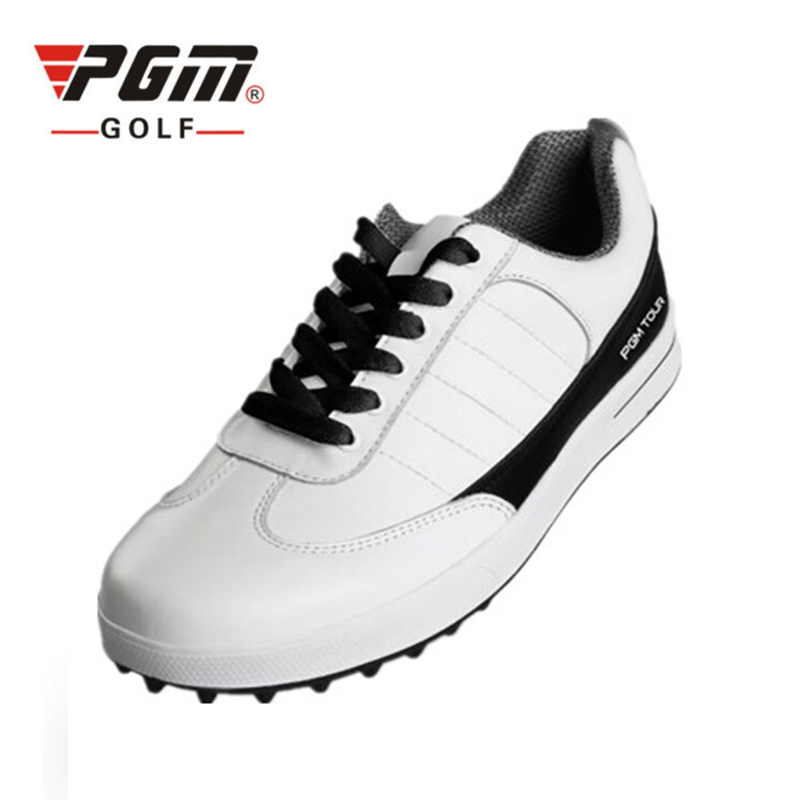 PGM Men Golf Shoes Top Quality Sport Shoes PU Waterproof Golf Shoes Plus Size 39-46 Professional Athletic Golf Shoes For Men pgm men golf shoes breathable athletic sneaker plus size 39 46 mesh sport shoes pu waterproof professional golf shoes for men
