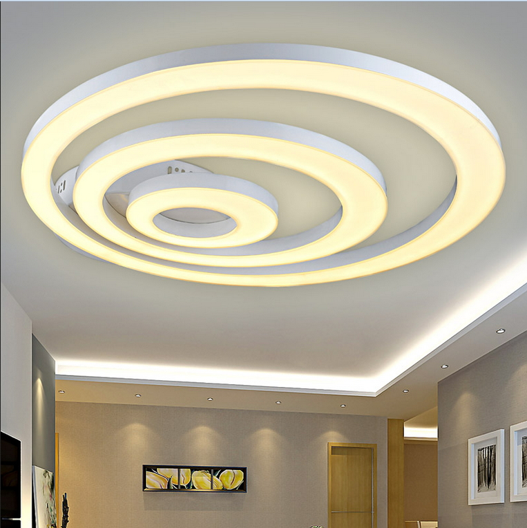 White Acrylic LED Ceiling Light Fixture Flush Mount Lamp Restaurant Dining Room Foyer Kitchen Bedroom Hotel Lighting Fitment In Lights From