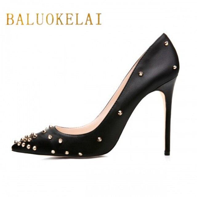 a28ac4328 Extrema Fina Sapatos de Salto Alto Mulher Bombas Dos Saltos Altos Sapatos  Pretos mulher Dedo Apontado