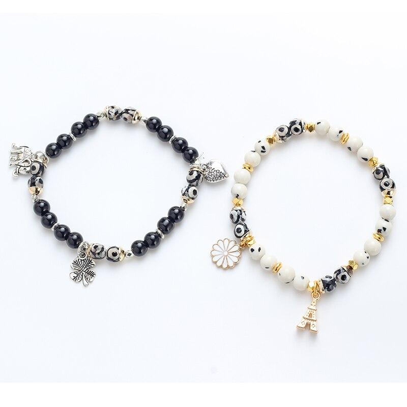 2019 Fashion Gold Tone Adjustable Glass Evil Eye Elephant Beads Charm Ankle Bracelet Anklets