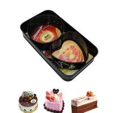 3 Teile/satz Herz Runde Rechteck Form Kuchenform Metall Baking Pastry Formen Mousse Brot Schimmel Backformen DIY Nicht-Stick Kuchenform