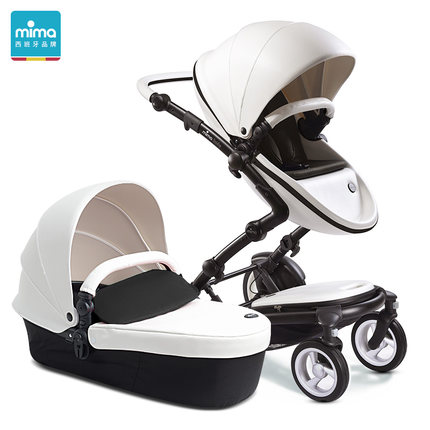 Фото Spain Mima kobi luxury leather baby stroller single seat with carrycot 2 in 1
