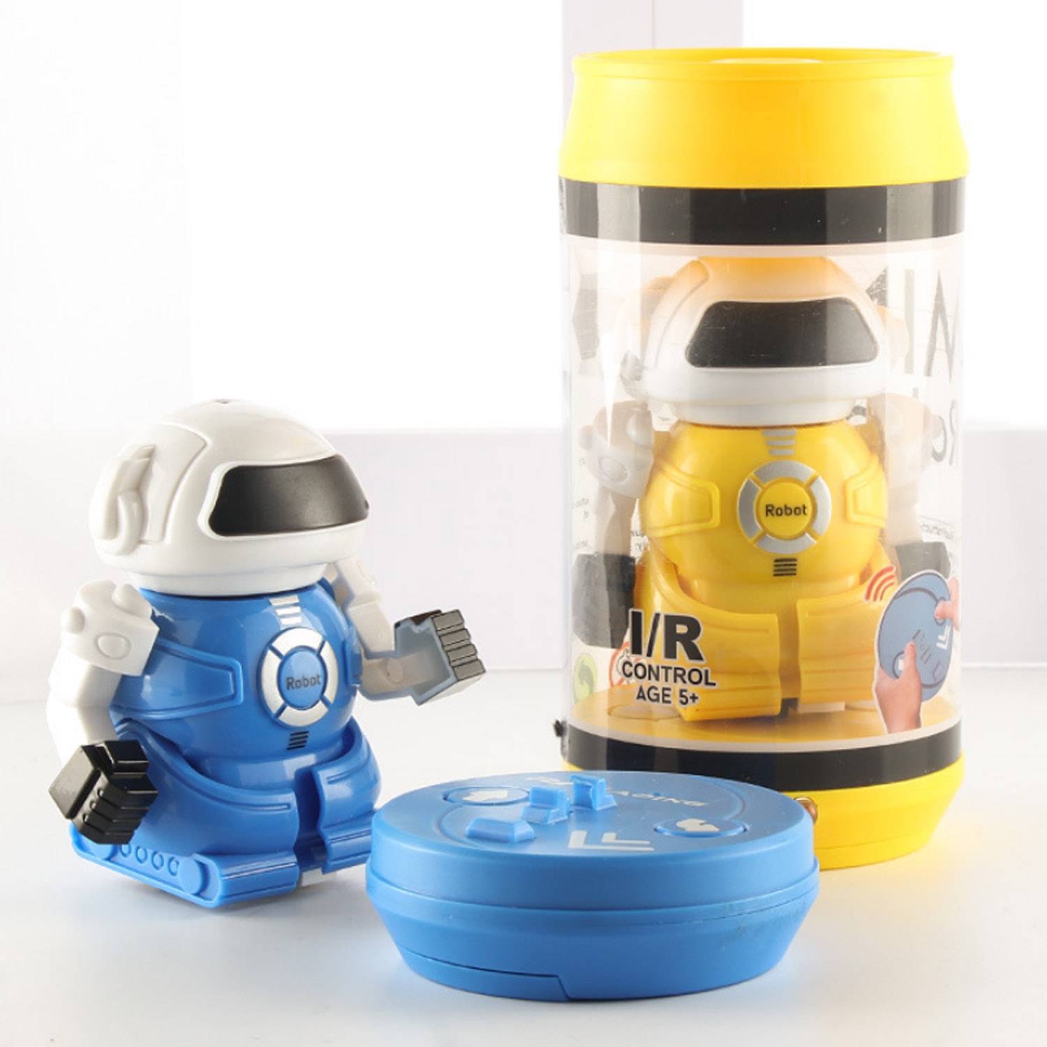 Besegad Mini Infrared RC Remote Control Robot Toy With Storage Can Electronic Robot Intelligent Toys For Children Festival Gifts