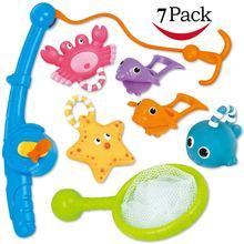 Игрушка для ванны рыболовная плавающая игрушка совок воды с