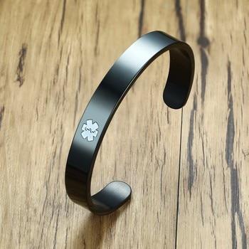 Engraved Medical Alert ID Bangle Bracelet Mens Ladies 1