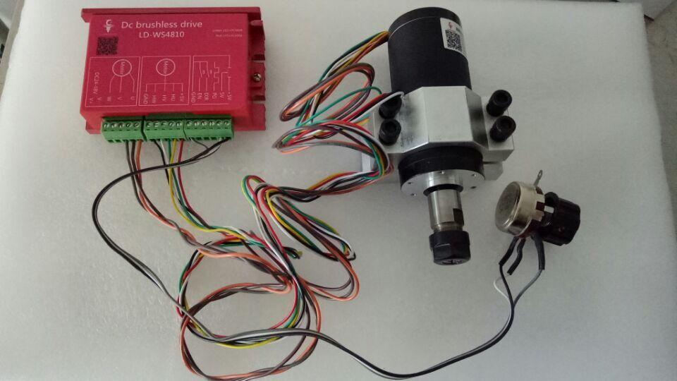 250 w ER11 12000 rpm Motor de husillo CC sin escobillas y controlador MACH3 y kits de soporte de montaje CNC