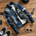 2017 spring new Men's Denim Jacket Lightwashed slim fit casual jeans jackets and coat long sleeve outwear M-5XL Free shipping