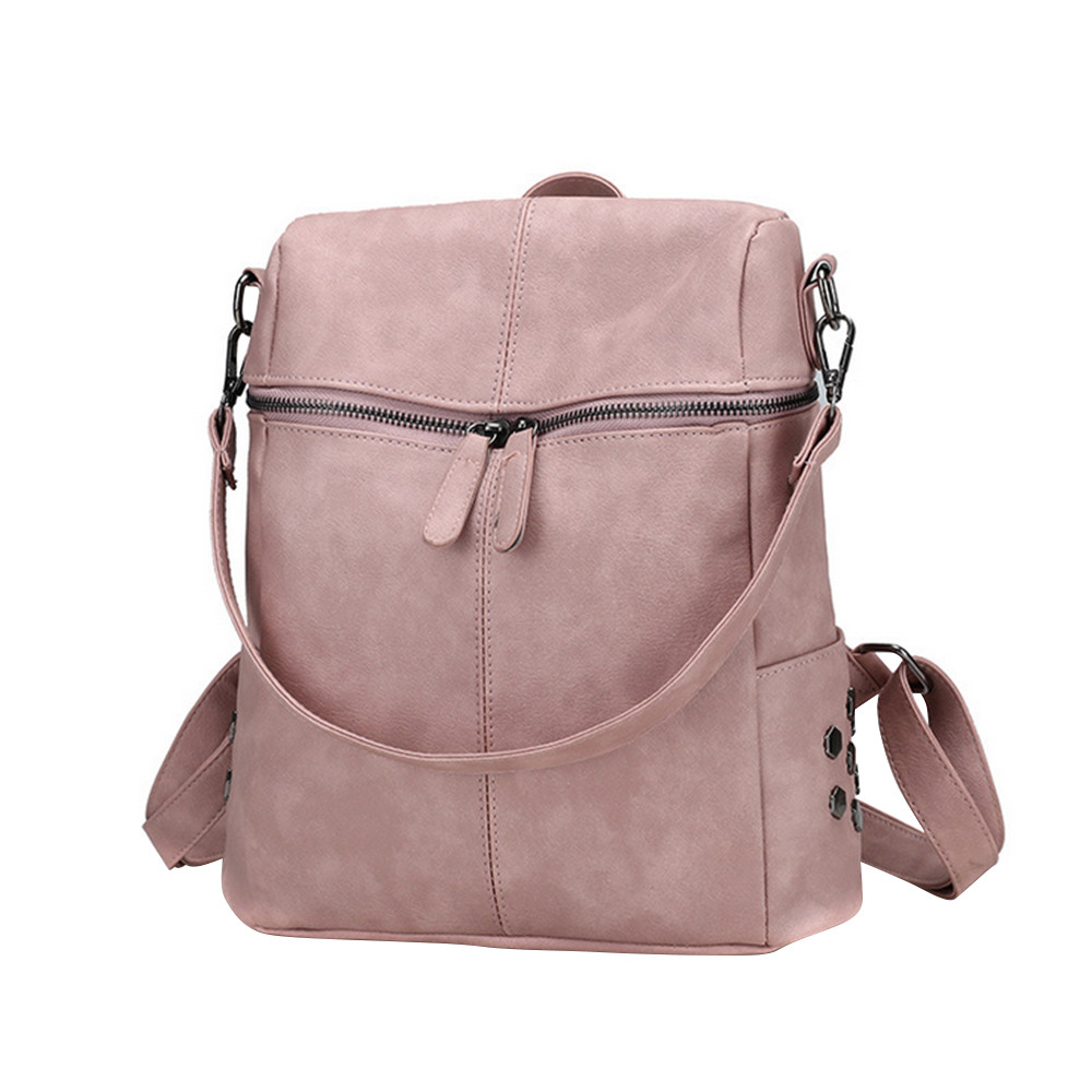 ISHOWTIENDA Casual Large Capacity Shoulder Bags Vintage Women Backpack Nubuck Leather Pu School Backpacks For Teenage Girls #7L(China)