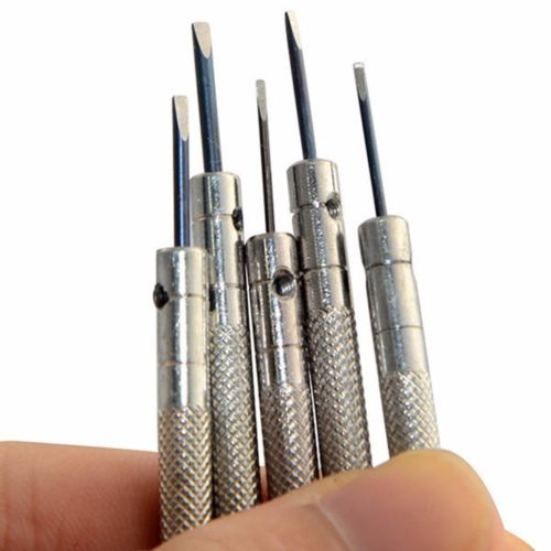 Free Shipping 0.6mm-2.0mm 13Pcs New Watchmakers Screwdrivers Set Watch Glasses Flat Blade