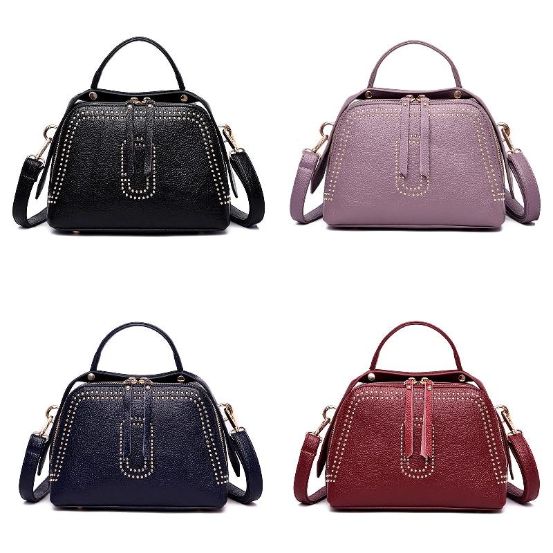 Bags Women Brand Fashion Genuine Leather Real Handbags Crossbody Bag Women Vintage Bucket Shoulder Bag Ladies Handbag Sac Femme in Top Handle Bags from Luggage Bags