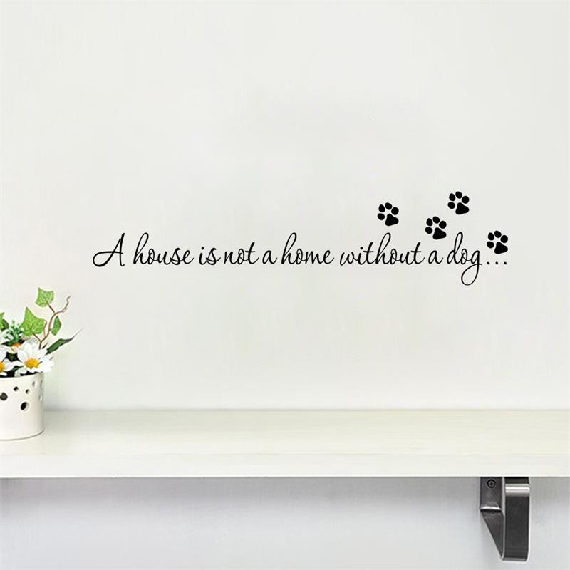 67ee71c4bf90 Dog Pet Letters Quotes Wall Stickers for Home Decor-in Wall Stickers from  Home & Garden on Aliexpress.com | Alibaba Group