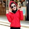 Venda quente 2016 Desgaste Neve Casaco Amassado Mulheres Jaqueta Short Slim Feminina de Algodão-Acolchoado Jacket Outerwear Casaco de Inverno Mulheres C256