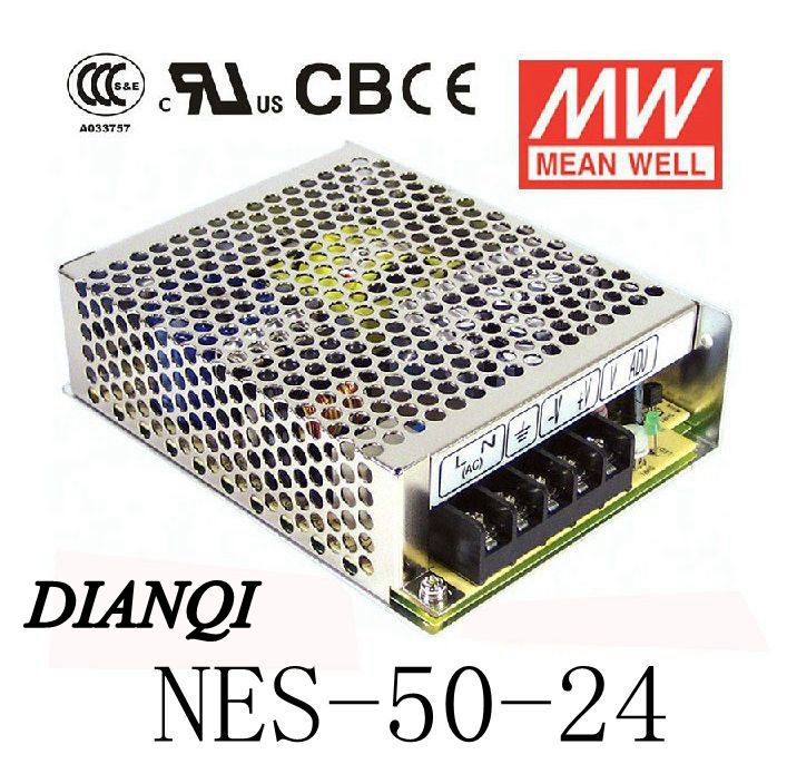 Original MEAN WELL power supply NES-50-24 power supply unit ac to dc 50W 24V 2.2A MEANWELL meanwell 24v 60w ul certificated lpv series ip67 waterproof power supply 90 264v ac to 24v dc