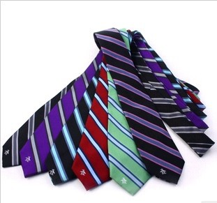 7cm stripe silk tie fashion penguin married casual tie