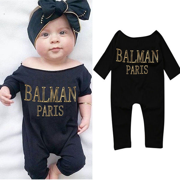 Baby Kids Boy Girl Clothes Boys Girls Costume Children Clothing  Infant Romper Jumpsuit Black Outfit Rompers 0-5Y newborn infant baby boys girls kids clothing cotton romper jumpsuit colorful warm zipper rompers baby girl clothes outfit