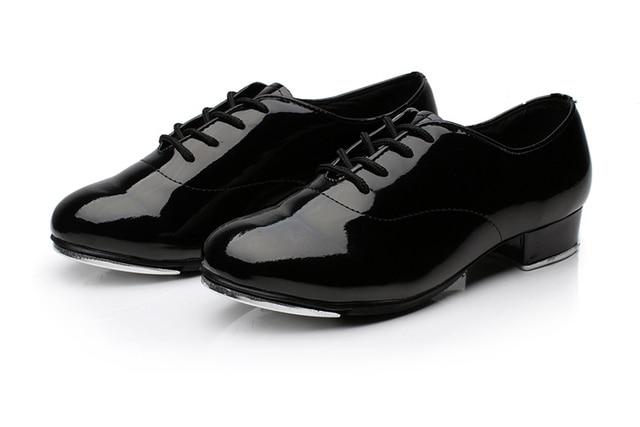 Ballroom Tap Dance Shoes Men Black High Aluminum Women Children White Cloesd Toe