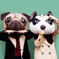 Plush Toy Dog Husky Doge Bulldog SHUNSUKE French Bulldog Cute Animal Soft Stuffed Plush Toys Pillow