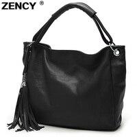 Free Shipping 100 Soft Genuine Leather Lady Women S Handbag Shoulder Tote Messenger Bag With Tassel