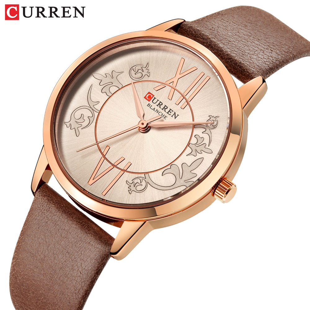 <font><b>CURREN</b></font> 2019 New Women Watches Luxury Fashion Quartz Wristwatch Leisure Waterproof Watche Brand Woman clock montre femme image